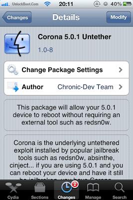 Corona 5.0.1 Jailbreak Updated to V1.0-8