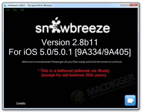 Sn0wbreeze IOS 5.0.1 jailbreak