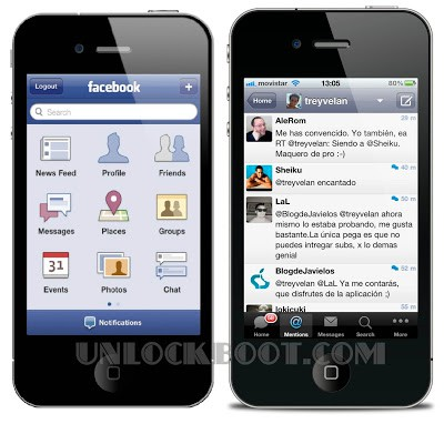 Twitter and Facebook Apps