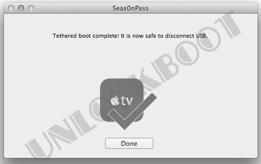 Apple TV 2 Tethered Jailbreak Complete
