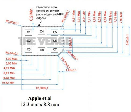 Nano-Sim Prototype from Apple Dimensions