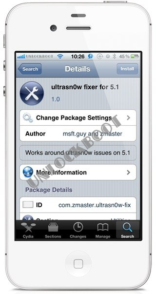Unlock IOS 5.1 baseband Ultrasn0w Fixer