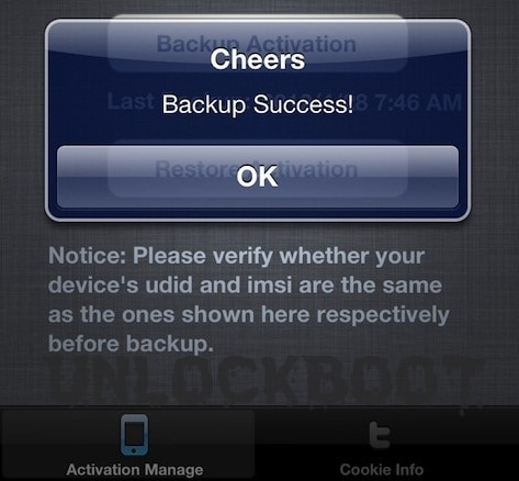 Restore Sam backup Cookie