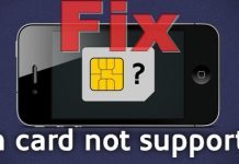 Fix sim card not supported