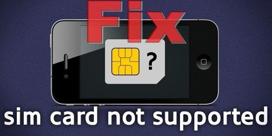sim card not supported