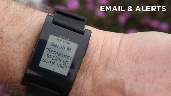 Pebble email and alerts