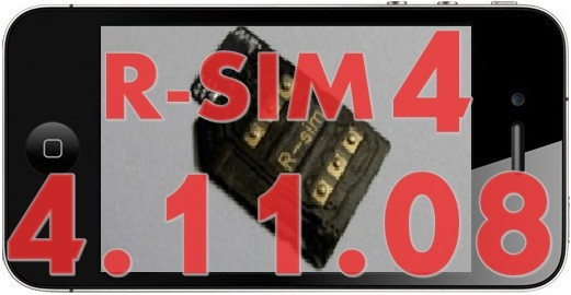 unlock iphone 4 with r-sim