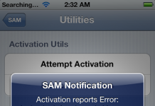 activation reports error