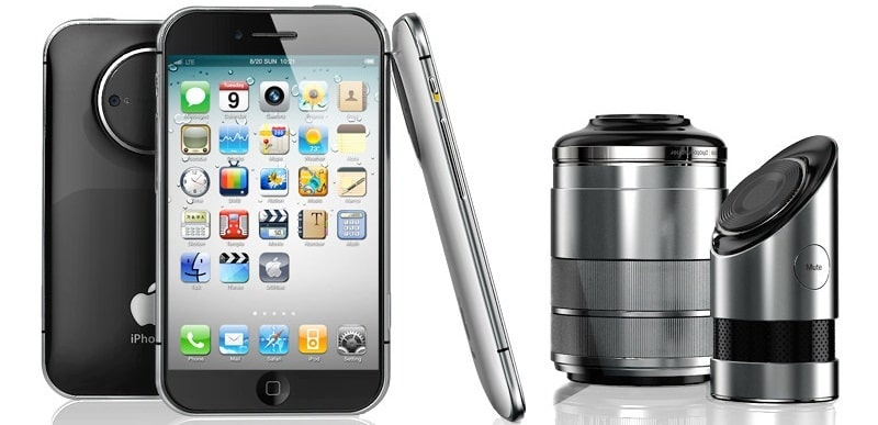 iPhone Pro concept with 3d camera