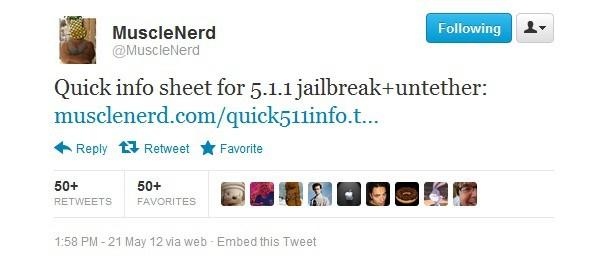 iOS 5.1.1 Untethered jailbreak
