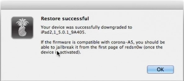 iPhone 4S 5.1 downgrade to 5.0.1