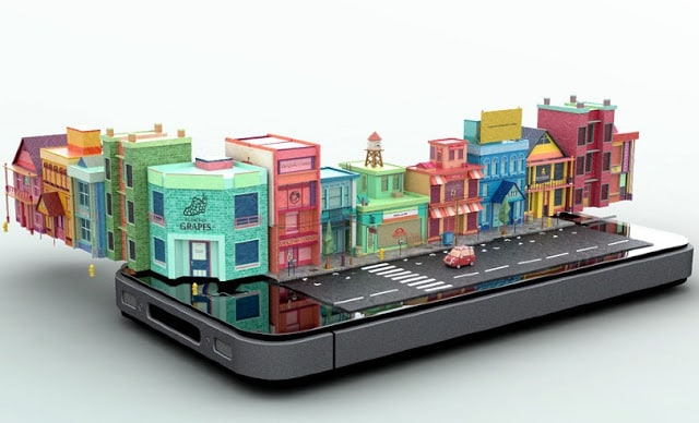 iPhone 3D City Mike Ko