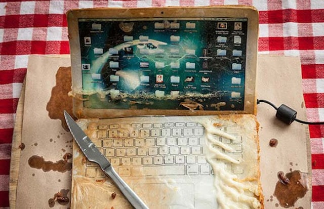 How will look Deep fried macbook air