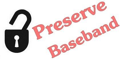 Preserve iPhone 4 baseband