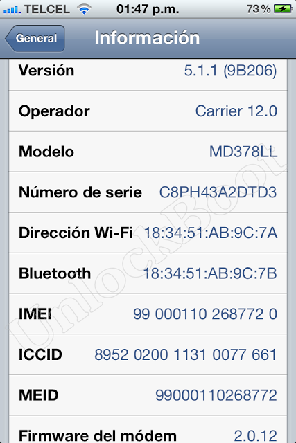 Unlock CDMA iPhone 4S Baseband 2.0.12