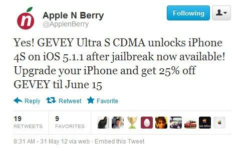 Gevey sim Unlock iPhone 4S