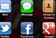 iOS  Photos Menu on ios