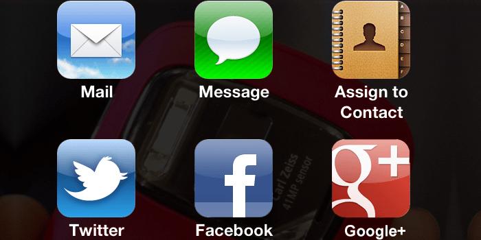 Install iOS 6 Sharing Menu on ios 5.1.1