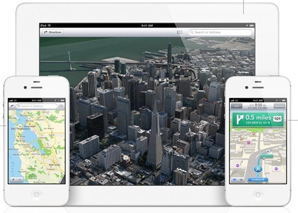 3D maps on iphone 4 iOS 6 Feature