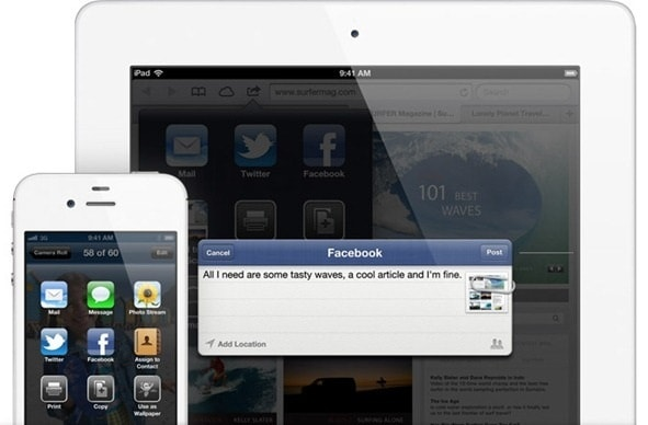 IOS 6 Facebook integration feature