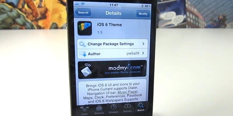 iOS 6 Theme for iOS 5.1.1 Cydia