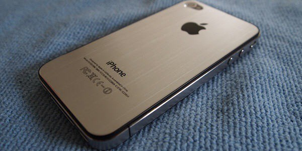 iPhone 5 with metalic cover