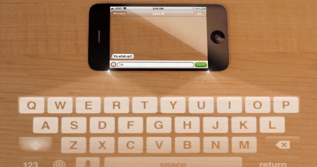 Transparent iPhone 5 with Laser Keyboard