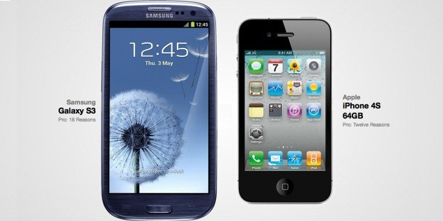 New iPhone 5 VS Galaxy S3