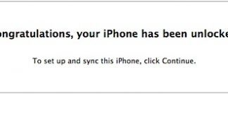 congratulations unlock iphone