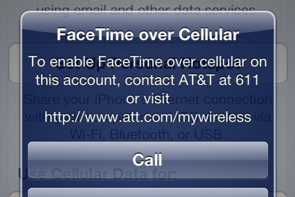 AT&T Facetime over Cellulat FEature 611