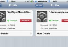 in app certificates installed