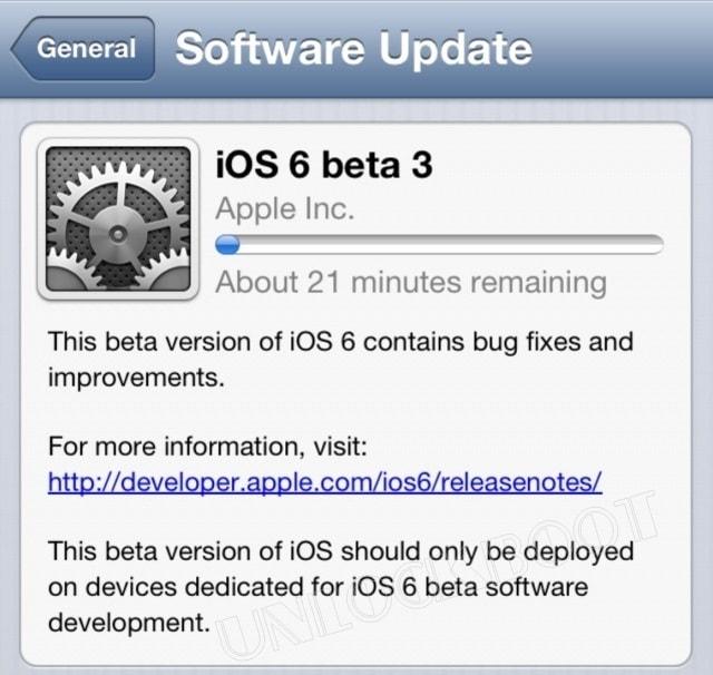 Download iOS 6 beta 3 links