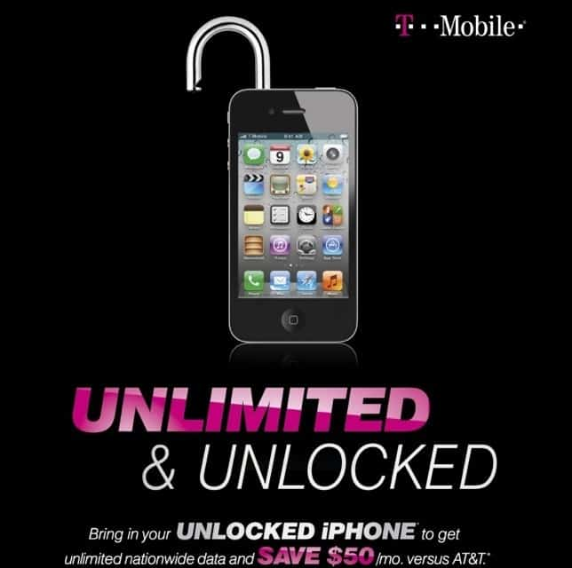 use at&t iphone on tmobile