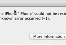 iOS  iTunes Error  downgrade to