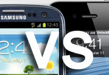 iphone  vs galaxy s