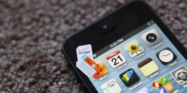 Verizon iPhone 5 is Unlocked