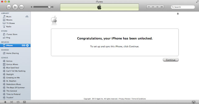 Unlock iPhone 4 iOS 5.1.1 via iTunes