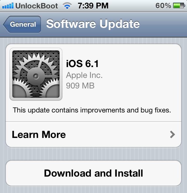 Download Unlock iOS 6.1