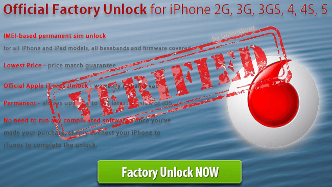 Vodafone iPhone Unlock