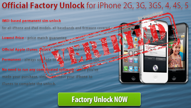 unlock barred iphone