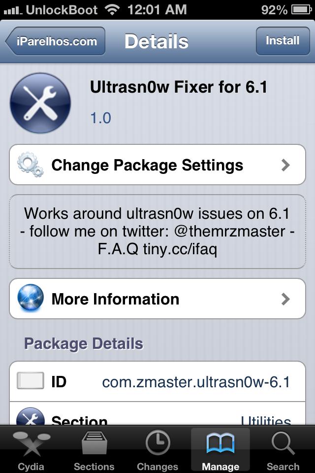 Unlock iOS 6.1.6