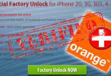 Orange Switzerland iPhone Unlock