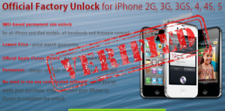 factory unlock iOS