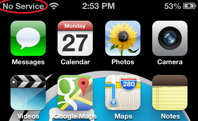 my iphone says no service fix no service on iphone 4s 5 4 amp 3gs after factory unlock 8721