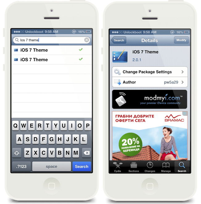 iOS 7 Theme for IOS 6.1.2