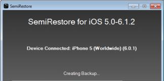 Semi Restore iPhone