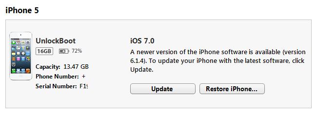iPhone 5 IOS 7.0 Install iTunes