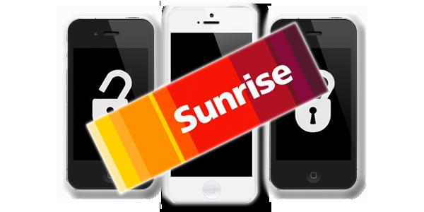 Unlock Sunrise Switzerlant iPhone