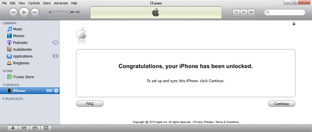 iTunes FREE Unlock iphone