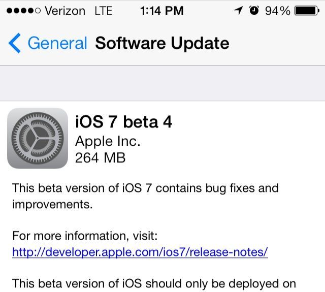 iOS 7 Beta 4 Download